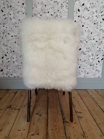 Refinished Vintage Kid's Sheepskin Armchair