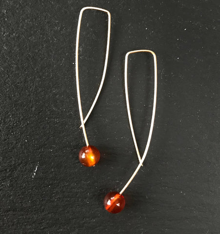 Geo Earrings - Carnelian