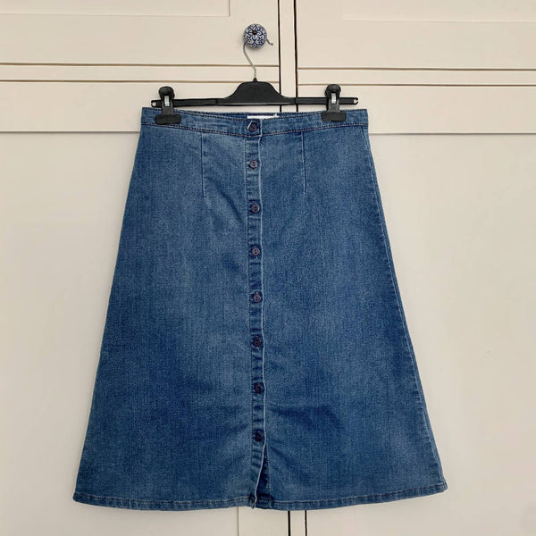 A Line Denim Skirt (10 - 12)