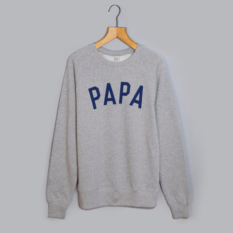 Grey & Navy PAPA Sweatshirt