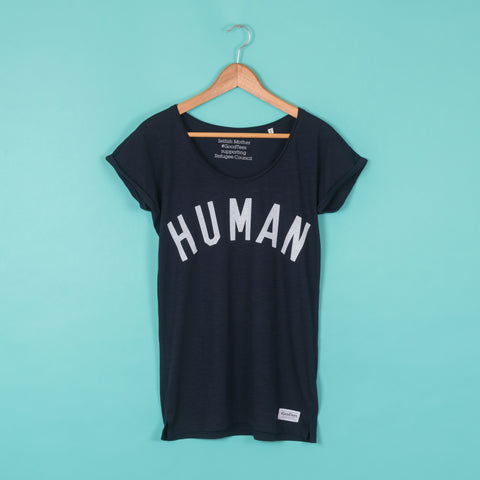 HUMAN Navy Slub Tee <br> Selfish Mother