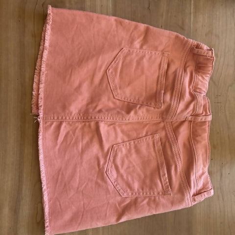 GAP girls' coral denim mini skirt, age 8