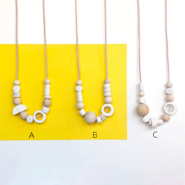 Asymmetric Porcelain Necklace