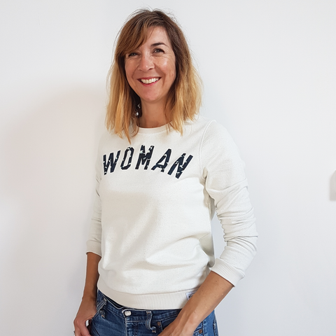 MAMA Sweatshirt - cream/ light grey