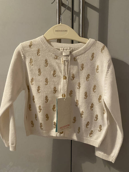 Monsoon Baby girl seahorse cardigan