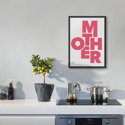 'Mother' Typography Print