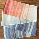 Narrow Organic Cotton Climate Stripe Scarf