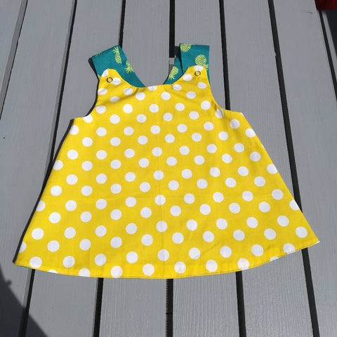 Cross Back Tunic - Pineapple Polkadot