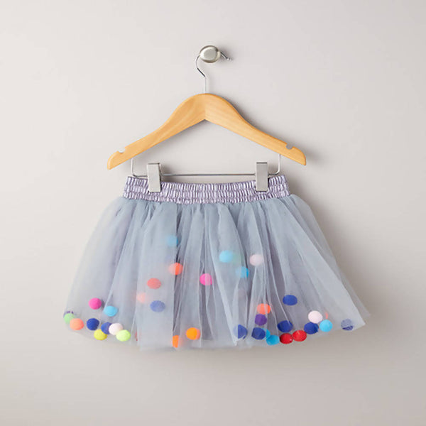 LITTLE SISTER - Pom Pom Tutu -Grey