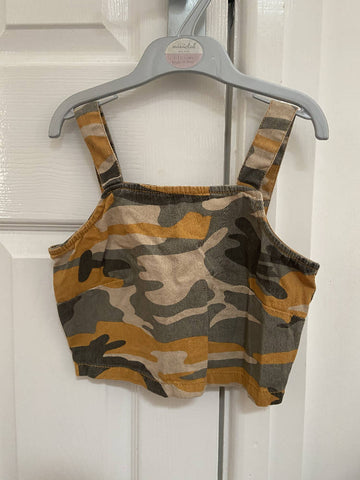 New Look girls' camo crop top, age 9