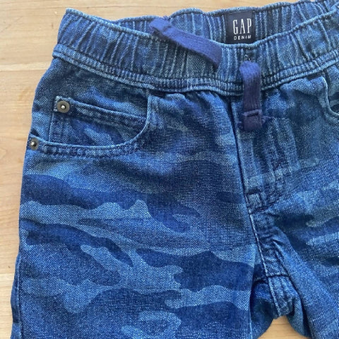 Gap boys' denim camo bermuda shorts, size S