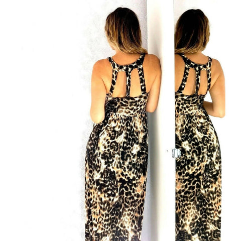 Miss Selfridge Leopard Print Maxi Dress 10