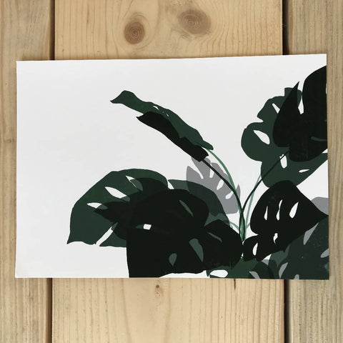 Landscape leaves print