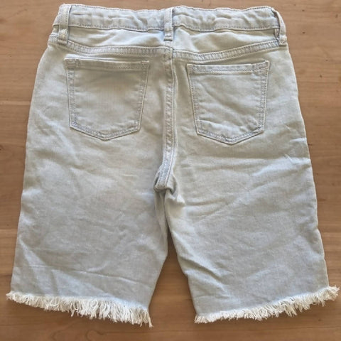 GAP girls' light blue denim bermuda shorts, age 8