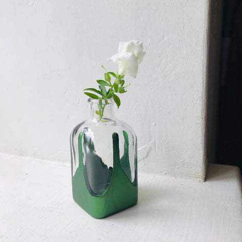 Paint Dipped Glass Vase