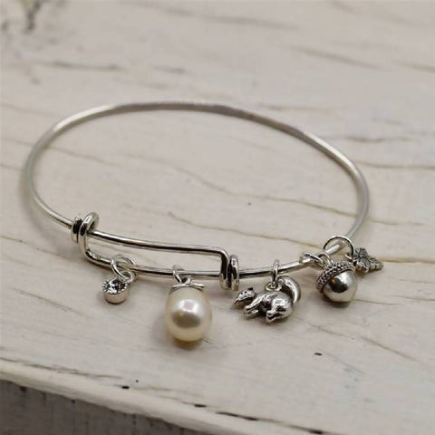 Woodland charms adjustable bangle