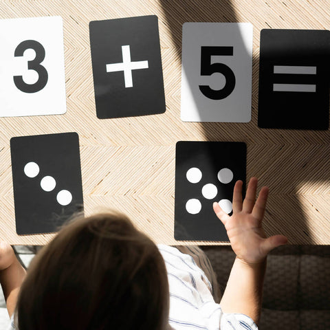 Learn By Doing... Numbers - 24 Double-Sided Montessori Style Learning Flashcards