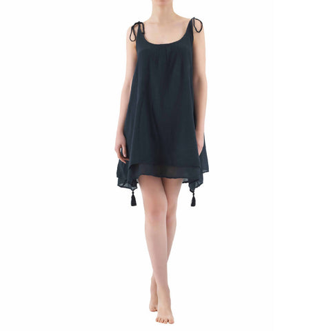 Cotton Summer Dress | BLACK