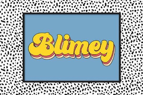 Blimey Poster Poster Print - Home Decor - Wall art