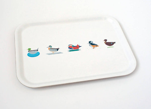 Large Dabbling Ducks eco wooden tray