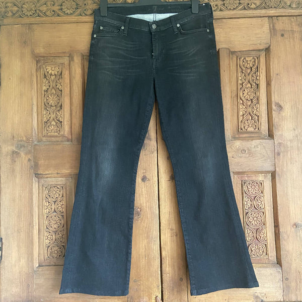 7 For All Mankind black bootcut jeans, W32