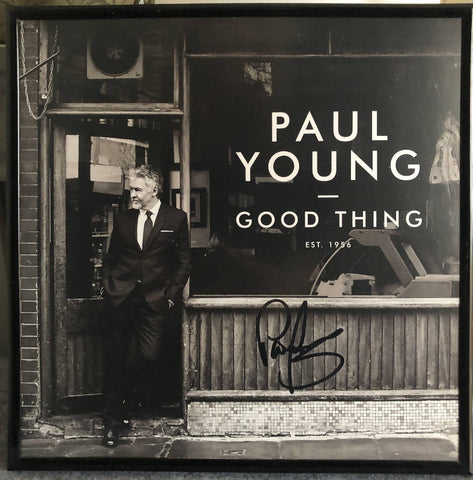 Signed Paul Young vinyl record Album - framed memorabilia RARE picture wall hanging