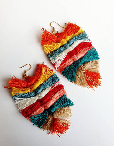 Extra Large Multi Tassel Drops