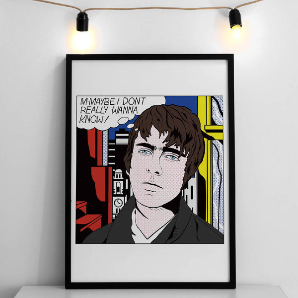 M-MAYBE LIVE FOREVER POP ART PRINT