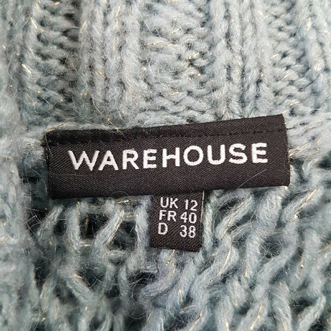 Warehouse Blue Sparkly Cardigan 12