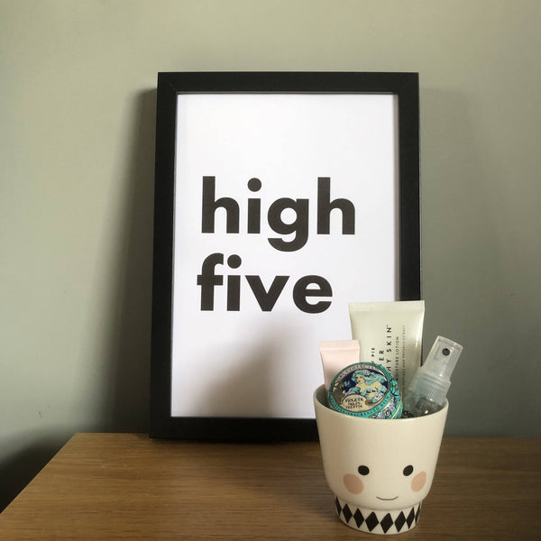 'High Five' A4 Typography Print