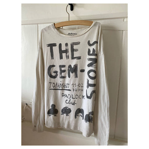 BELLEROSE L/S cream band tee Age 8/10