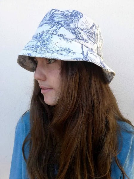 Toile de Jouey print medium brim bucket hat