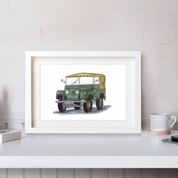 Land Rover Series 1 Hand Drawn Illustration Print