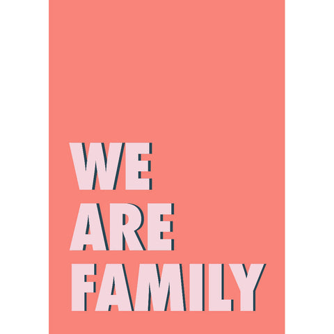 We Are Family Art Print (coral/pink) | Home Decor - Wall Art - Typography