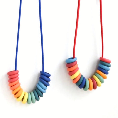 Porcelain Rainbow Necklace