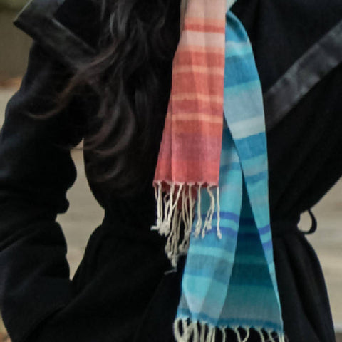 Narrow Peace Silk Climate Change Scarf