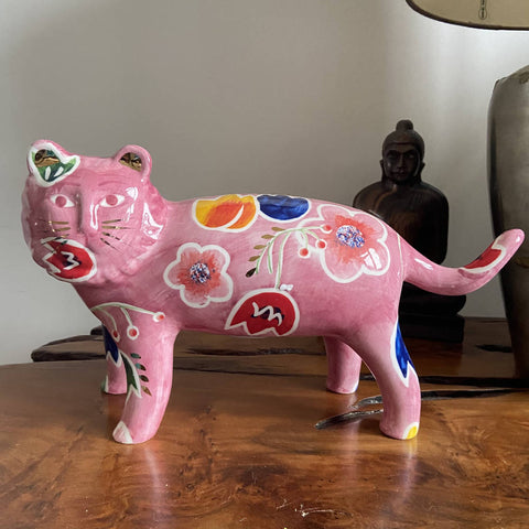 Ceramic Oliver Bonas big cat money box BNWT