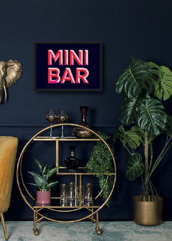 Mini Bar Print • Poster • Art • Home Decor