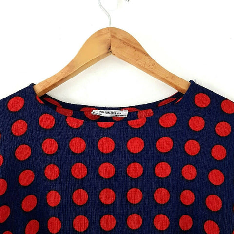 Zara Trafaluc Polka Dot Bodycon Dress Medium