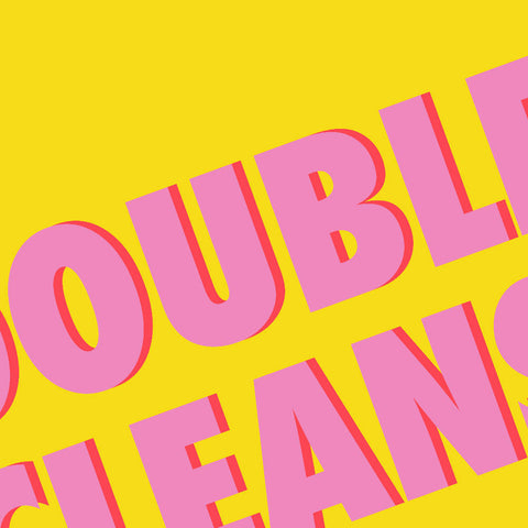 Double Cleanse (yellow/pink) | Home Decor - Wall Art - Typography
