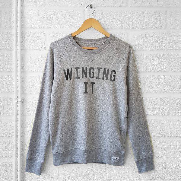 The Grey & Black WINGING IT <br>'Boyfriend' Sweatshirt