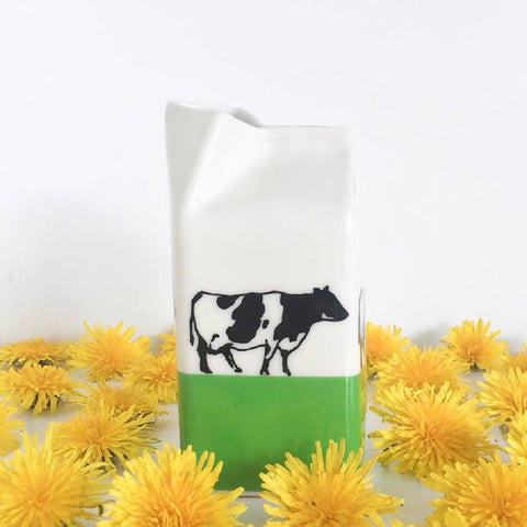Cows On Grass Milk Jug