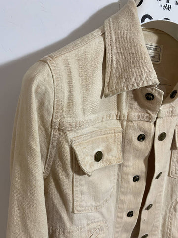 Current Elliot Cream Denim Jacket size 0 (8 fit)