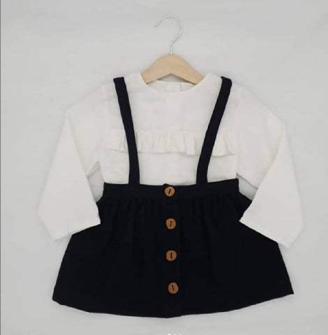 Pinafore Wool/Cotton Mix Skirt