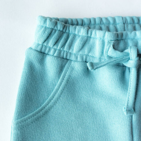 Kids Mix & Match Organic Joggers Seafoam