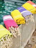 Hot pink hammam towel