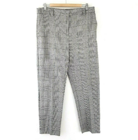 M&S Relaxed Straight Tartan Trousers 14