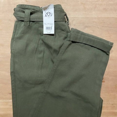 Miss Selfridge BNWT khaki belted utility paperbag trousers, 12
