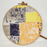 Mid Vintage Fabric Bauble - Block Abstract