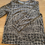 French Connection black/grey snakeskin blouse, size 12